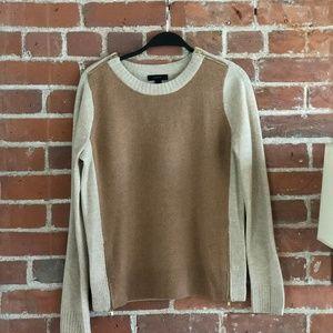 J.Crew Two Tone Zip Sweater